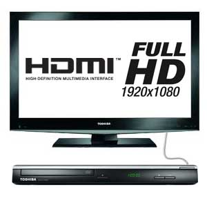 The Toshiba SD3005KB-2 upscales your standard definition DVDs into Full HD 1080p via HDMI