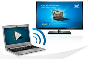 Play content on your laptop and stream it wirelessly to your TV with Intel WiDi Technology