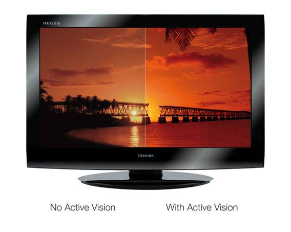 Toshiba REGZA LV series TV with Active Vision LCD