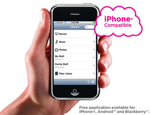 Free your mobile device from the tyranny of storage limitations.