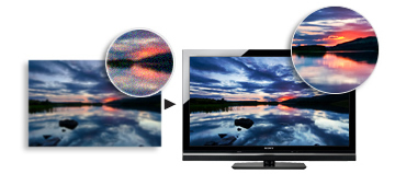 The unique technology of BRAVIA ENGINE 3 optimises the quality of every single scene