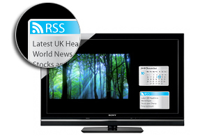 AppliCast™ brings live internet feeds to your screen while you watch TV
