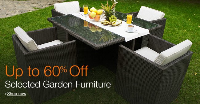 Up to 60% Off Selected Garden Furniture