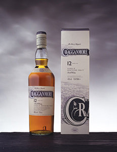 Cragganmore 12 Year Old Whisky Bottle and Pack Visual