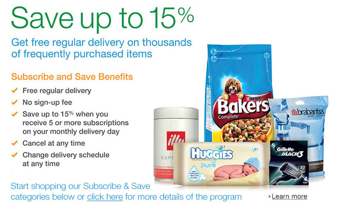 Save up to 15% with Subscribe & Save--Learn more