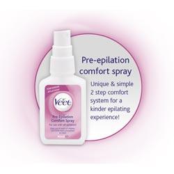 Pre-epilation comfort spray