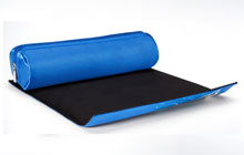 The heat mat provides a safe resting place during styling