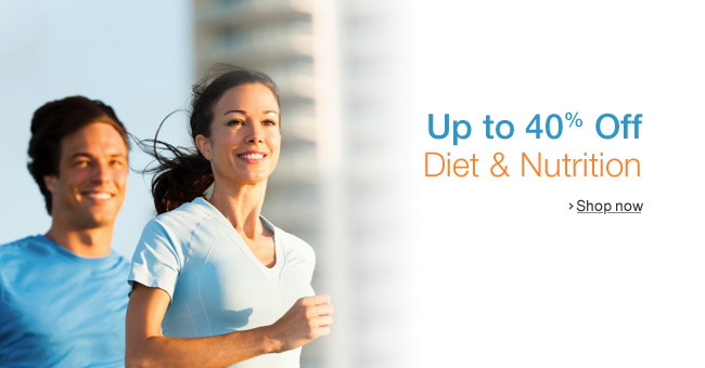 Up to 40% Off Diet & Nutrition