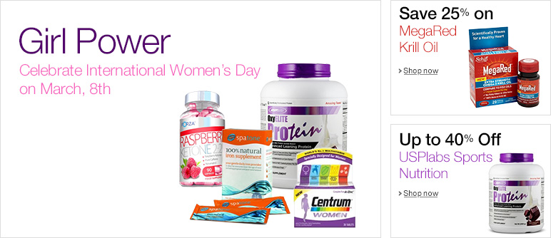 Vitamins & Minerals March Promotions