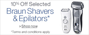 10% Off Selected Braun Shavers and Epilators
