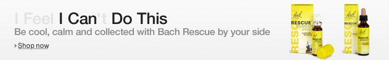 I feel I can't do this. Be cool, calm and collected with Bach Rescue on your side