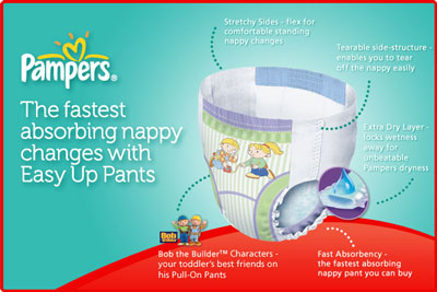 Pampers Easy Up Training Pants Features