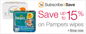 Save up to 15% on Pampers wipes with Subscribe & Save
