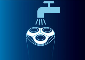 Philips PT715 comes with a washable shaver head, means it is very easy to keep it clean and hygienic, as you can simply rinse this waterproof shaver under tap