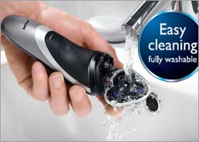 he Philips PT870 comes with a washable shaver head, means it is very easy to keep it clean and hygienic, as you can simply rinse this waterproof shaver under tap.