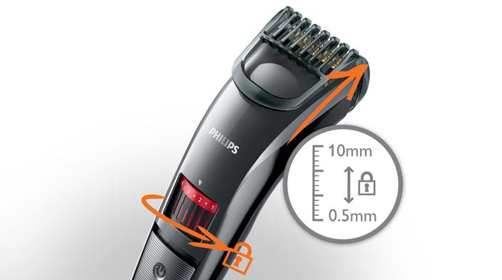 philips qt4015 23 mens rechargeable beard stubble trimmer. Black Bedroom Furniture Sets. Home Design Ideas