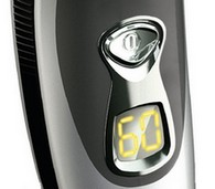 The Remington F7790 Comfort 360 Foil Shaver's digital display