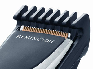 The Remington HC325 Hair Clipper has diamond-like carbon coated blades