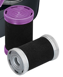 The Remington Jumbo Rollers have wax centres to help hold curls for longer