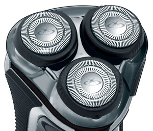 The Remington R6130 Rotary Shaver's 3 flexing heads