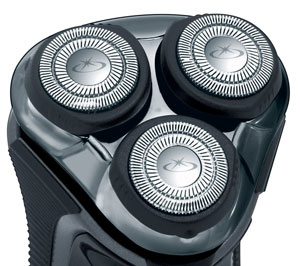 The Remington R7130 Rotary Shaver's 3 flexing heads