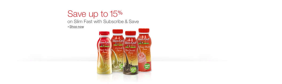 Up to 15% Off Slim Fast with Subscribe and Save