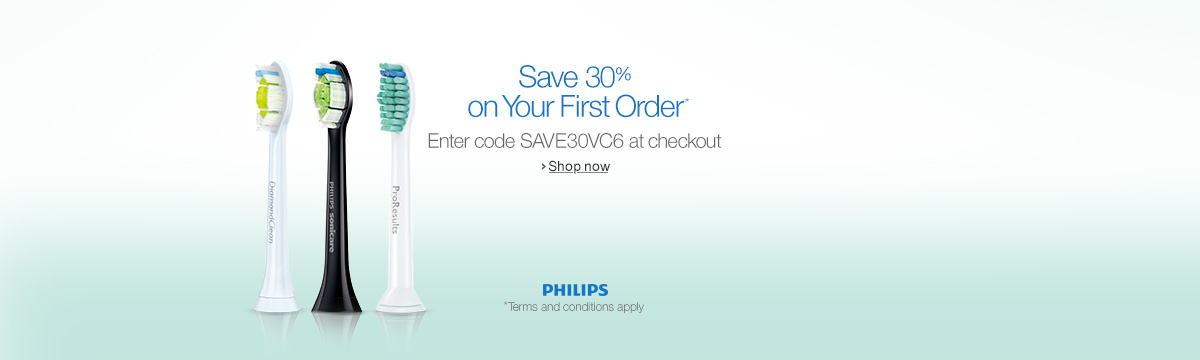 Save 30% on Your First Order of Philips brush heads When You Subscribe & Save