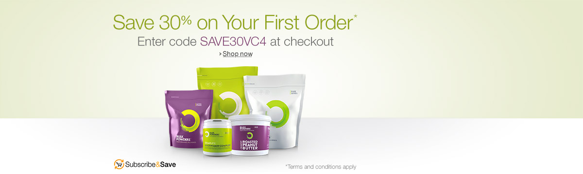 Save 30% on Your First Order of Bulk Powders When You Subscribe & Save