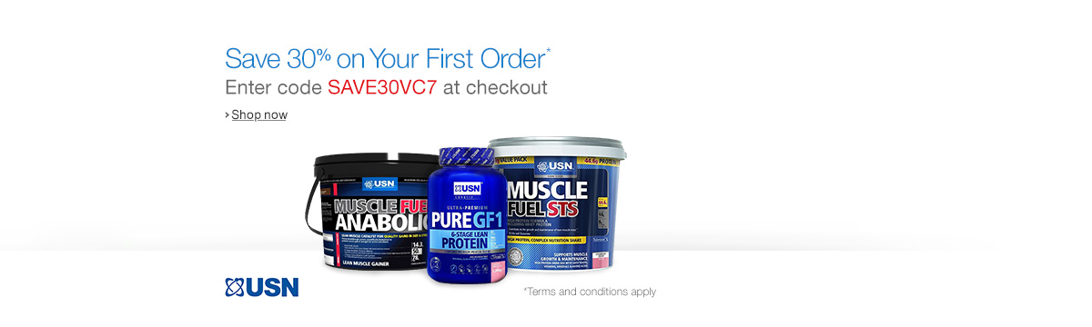 Save 30% on Your First Order of USN Nutrition When You Subscribe & Save