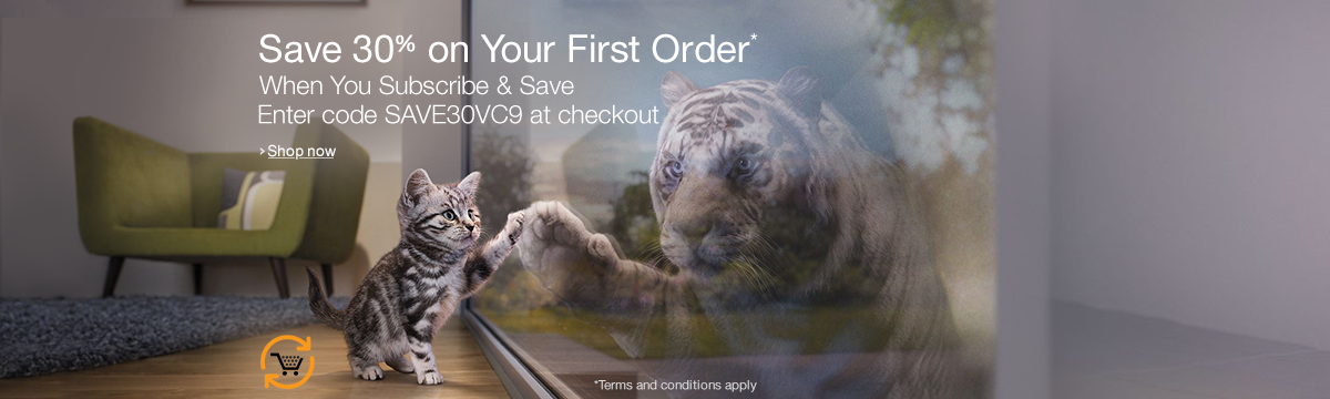 Save 30% on Your First Order of Whiskas cat food When You Subscribe & Save