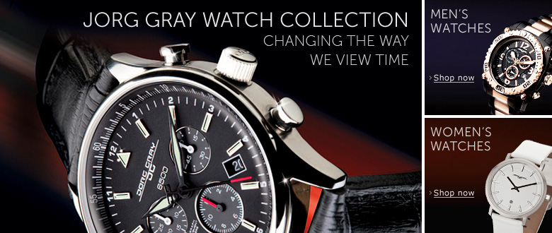 Jorg Gray Watch Collection� changing the way we view time