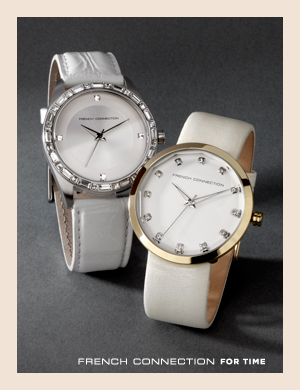 French Connection For Time. Watches with stone set dials from French Connection.