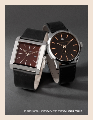 French Connection For Time. Watches with leather straps from French Connection.