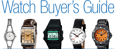 Watch Buyers Guide:Choosing Your Watch Style, How Watches Work, Watch Movements, Watch Features, Watch Cases, Water-Resistance in Watches,Watch Bands and Straps, Caring for Your Watch, Watch FAQ, Watch Glossary
