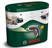 The Bosch IXO 4 screwdriver comes in a handsome tin gift box