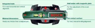 The Bosch PLL 5 Laser Pen is your perfect partner when requiring projects to be precisely level