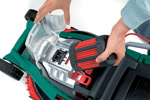 The Bosch Rotak 43 LI is cordless so you can cut your lawn anywhere away from a power source