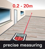 The Skil 0530 features precise measuring due to laser technology