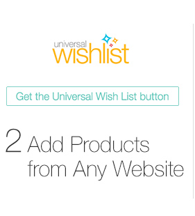 Wedding Gift List Universal Wish List - Add Products from Any Website