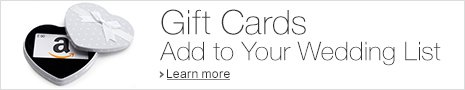 Add an Amazon.co.uk Gift Card to your Wedding Gift List