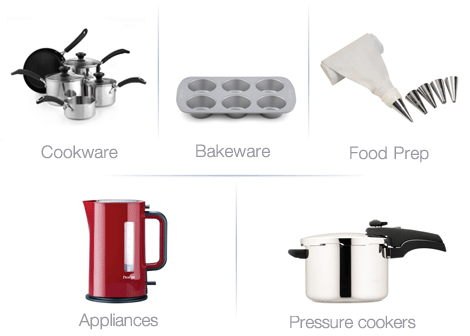Prestige cookware, bakeware, food prep and appliances