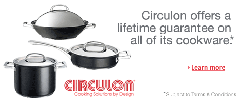 All Circulon cookware comes with a lifetime guarantee