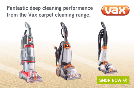 Fantastic performance with the Vax carpet cleaning range