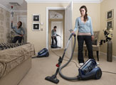 Hoover Turbo Power cleans every corner of your room