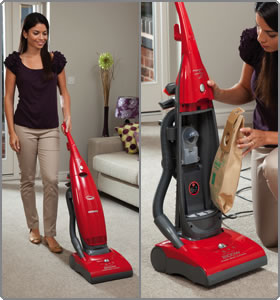 Hoover Vacuum Cleaners PurePower PU2111 Bagged Upright Vacuum Cleaner, 2100 Watt (Free Bags for 1 Year* Based on 1 Year's Average Use)