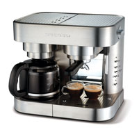 Morphy Richards Coffee Maker Cleaning : MORPHY RICHARDS ELIPTA 47160 COMBINATION ESPRESSO MAKER- BRUSHED STAINLESS STEEL