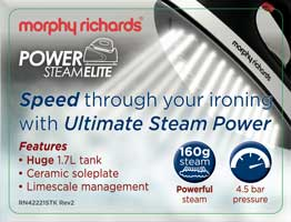 Morphy Richards Power Steam Elite 42221 Pressurised Steam Generator