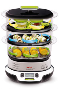 tefal vitacuisine vs400315 3 tier compact 1800w steamer new. Black Bedroom Furniture Sets. Home Design Ideas