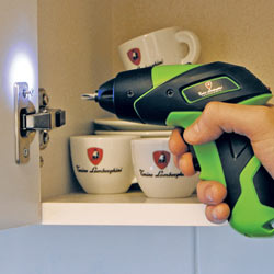 Using the Tonino Lamborghini 3.6 Volt Lithium-Ion Screwdriver's work light