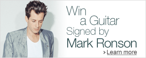Win a guitar signed by Mark Ronson